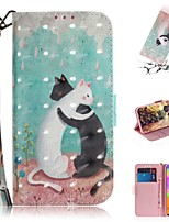cheap -Case For Samsung Galaxy S20 Galaxy S20 Plus Galaxy S20 Ultra Wallet Card Holder with Stand Full Body Cases Black and White Cat PU Leather TPU for Galaxy A51 A71 A70E A81 A91 A11 A31 A41 A21