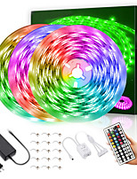 cheap -LED Strip Lights waterproof 15M 900LEDs 2835 RGB Light Strips Color Changing Rope Lights Flexible Tape Light Kit with 44 Keys Remote Controller & 12V 5A Power Supply