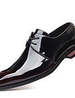 cheap -Men's Summer / Fall Daily Oxfords PU Black / Red / Blue
