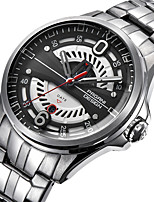 cheap -BENYAR Men's Sport Watch Quartz Modern Style Stylish Casual Water Resistant / Waterproof Stainless Steel Analog - Black+Gloden Red+Silver White+Silver / Calendar / date / day