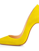 cheap -Women's Heels Summer Flat Heel Pointed Toe Daily Solid Colored PU Yellow / Red / Green