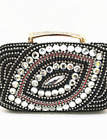cheap -Women's Bags Polyester Evening Bag Pearls / Crystals for Daily Black / Blue / Red / Wedding Bags