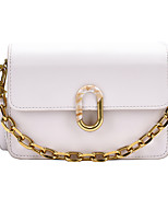 cheap -Women's Bags PU Leather Crossbody Bag Chain for Event / Party / Daily White / Black / Khaki