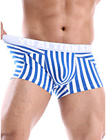 cheap -Men's Basic Boxers Underwear - Normal Low Waist Blue Red Yellow S M L