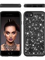 cheap -Case For Apple iPhone 6 6s 7 8 6plus 6splus 7plus 8plus X XR XS XSMax SE(2020) iPhone 11 11Pro 11ProMax Shockproof  Glitter Shine Back Cover Solid Colored  Glitter Shine TPU  PC