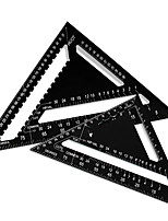 cheap -Triangular Measuring Ruler Hand Tools Set Metric Aluminum Alloy Metric/Inch Square Roofing Triangle Protractor Tester