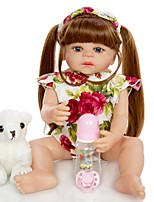 cheap -KEIUMI 22 inch Reborn Doll Baby & Toddler Toy Reborn Toddler Doll Baby Girl Gift Cute Washable Lovely Parent-Child Interaction Full Body Silicone 22D09-C324-T19 with Clothes and Accessories for