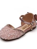 cheap -Girls' Flats Comfort PU Little Kids(4-7ys) Black / Pink / Silver Summer
