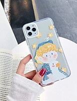 cheap -Case For Apple iPhone 11 / iPhone 11 Pro / iPhone 11 Pro Max Shockproof / Pattern Back Cover Sexy Lady / Cartoon / Flower TPU