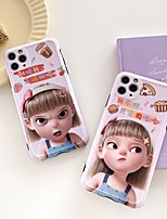 cheap -Case For Apple iPhone 7 8 7plus 8plus X XR XS XSMax SE(2020) iPhone 11 11Pro 11ProMax Shockproof Pattern Back Cover Cover Sexy Lady Cartoon TPU