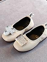 cheap -Girls' Flats Comfort PU Little Kids(4-7ys) Black / Beige Summer