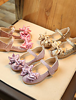 cheap -Girls' Flats Flower Girl Shoes PU Little Kids(4-7ys) / Big Kids(7years +) Purple / Pink / Gold Summer / Fall