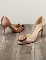 cheap -Women's Heels Summer Stiletto Heel Pointed Toe Daily PU Nude / Black / Green
