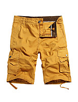 cheap -Men's Hiking Shorts Hiking Cargo Shorts Summer Outdoor Loose Breathable Sweat-wicking Multi-Pocket Wear Resistance Cotton Shorts Bottoms Red+Brown Jacinth +Gray Yellow Dark Gray Light Grey Hunting
