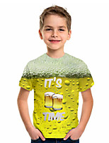 cheap -Kids Boys' Basic Jacquard Short Sleeve Tee Yellow