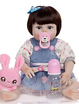 cheap -KEIUMI 19 inch Reborn Doll Baby & Toddler Toy Reborn Toddler Doll Baby Girl Gift Cute Washable Lovely Parent-Child Interaction Full Body Silicone 19D09-C355-H22-T21 with Clothes and Accessories for