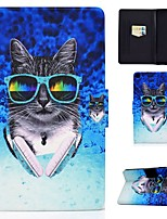 cheap -Case For Samsung Galaxy Tab A 10.1(2019)T510 Tab A 8.0(2019)T290 T295 TAB A 10.1 T580N T585C P610 T350 Card Holder with Stand Pattern Full Body Cases Cat PU Leather