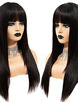 cheap -Synthetic Wig kinky Straight with Baby Hair Wig Very Long Natural Black Synthetic Hair 68~72 inch Women's Synthetic Black