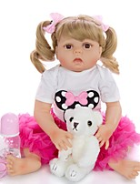 cheap -KEIUMI 22 inch Reborn Doll Baby & Toddler Toy Reborn Toddler Doll Baby Girl Gift Cute Washable Lovely Parent-Child Interaction Full Body Silicone 23D31-C107-H13-T19 with Clothes and Accessories for