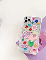 cheap -Apple Case For iPhone7 8 7plus 8plus XR XS XSMAX  X 11 11Pro 11ProMax Translucent Pattern Back Cover Heart TPU