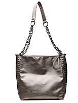 cheap -Women's Bags PU Leather Crossbody Bag Rivet Chain for Date / Going out Black / Champagne / Fall & Winter
