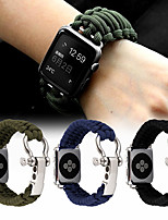 cheap -Hand Woven Sport watch band For Apple Watch strap 5 4 3 2 44mm 40mm iwatch 42mm 38mm Survival Rope Metal Bolt Clasp Bracelet Accessories