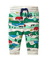 cheap -Kids Girls' Basic Print Drawstring Pants Green