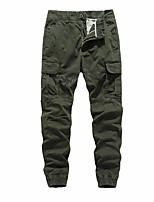 cheap -Men's Hiking Pants Outdoor Standard Fit Multi-Pocket Cotton Pants / Trousers Brown+Gray Army Green Khaki Dark Blue Hunting Climbing Camping / Hiking / Caving 28 29 30 31 32