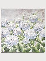 cheap -Hand Painted Canvas Oilpainting Abstract Impression White Flowers Home Decoration with Frame Painting Ready to Hang