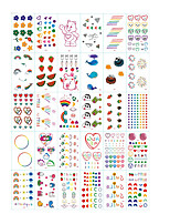 cheap -30 Sheets/set Tattoo Designs Temporary Tattoos Flower Tattoo DesignsWhite Cloud Rainbow Love Flower