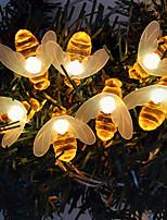 Недорогие -3M Гирлянды 20 светодиоды ДИП светодиоды 1шт Тёплый белый Декоративная Новогоднее украшение для свадьбы 220 V