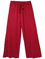 cheap -Ballroom Dance Pants Split Women's Training Daily Wear Natural Cotton