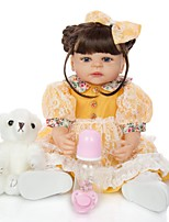 cheap -KEIUMI 22 inch Reborn Doll Baby & Toddler Toy Reborn Toddler Doll Baby Girl Gift Cute Lovely Parent-Child Interaction Tipped and Sealed Nails Full Body Silicone 22D04-C145-S01-S24-T19 with Clothes