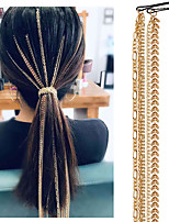 cheap -Women's Hair Jewelry For Gift Holiday Prom Street Fashion Classic Aluminum Golden 1pc