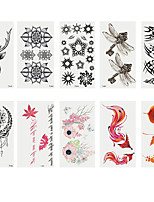 cheap -6 Sheets Randomly Tattoo Designs Temporary Tattoos Fashion Body Art Adults Waterproof Hand Fake Tatoo Deer Maple Leaf Fox Dragon Fly Creative Shape Tattoo DesignT01-T10