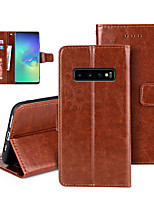 cheap -Case For Samsung Galaxy S9 / S9 Plus / S8 Card Holder / Flip / Magnetic Full Body Cases Solid Colored PU Leather / TPU