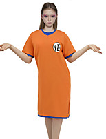 cheap -Inspired by Dragon Ball Son Goku Anime Cosplay Costumes Japanese Sleepwear Costume For Women's