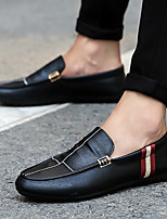 cheap -Men's Summer / Fall Sporty / Casual Daily Loafers & Slip-Ons Walking Shoes PU Breathable Wear Proof White / Black / Orange