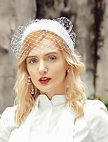 cheap -Headwear Elegant Flax Headwear with Solid 1pc Wedding / Party / Evening Headpiece