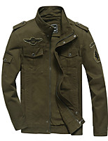 cheap -Men's Hiking Jacket Outdoor Thermal / Warm Windproof Breathable Multi-Pocket Jacket Top Cotton Hunting Fishing Climbing Black / Army Green / Khaki / Camping / Hiking / Caving