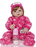 cheap -KEIUMI 22 inch Reborn Doll Baby & Toddler Toy Reborn Toddler Doll Baby Girl Gift Cute Washable Lovely Parent-Child Interaction Full Body Silicone KUM23FS01-WLW40 with Clothes and Accessories for