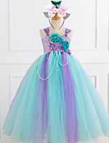 cheap -Princess Dress Girls' Movie Cosplay New Year's Purple Dress Headwear Christmas Halloween Carnival Polyester / Cotton Polyester