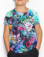 cheap -Kids Boys' Basic Floral Print Short Sleeve Tee Blue