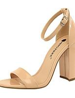 cheap -Women's Sandals Summer Pumps Open Toe Daily PU Nude / White / Black