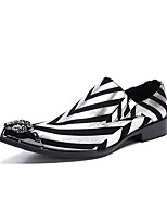 cheap -Men's Summer Daily Loafers & Slip-Ons Cowhide Black