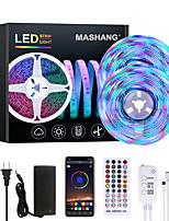 cheap -MASHANG 32.8ft 10M Bright RGBW LED Strip Lights Music Sync Smart LED Tiktok Lights 2340LEDs SMD 2835 Color Changing with 40 keys Remote Bluetooth Controller for Home Bedroom TV Back Lights DIY Deco