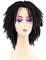 cheap -Synthetic Wig Afro Curly Loose Curl Asymmetrical Wig Short Natural Black Synthetic Hair 8 inch Women's Elastic Natural Adorable Black
