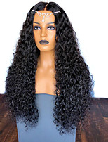 cheap -Synthetic Wig Afro Curly with Baby Hair Wig Very Long Natural Black Synthetic Hair 58~62 inch Women's Synthetic Black