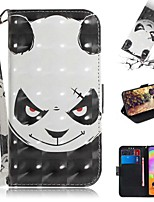 cheap -Case For Samsung Galaxy S20 Galaxy S20 Plus Galaxy S20 Ultra Wallet Card Holder with Stand Full Body Cases Angry Panda PU Leather TPU for Galaxy A51 A71 A70E A81 A91 A11 A31 A41 A21