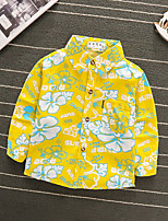 cheap -Toddler Boys' Basic Floral Print Long Sleeve Blouse Yellow